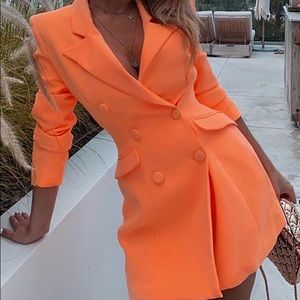 Dresses & Skirts - Long Sleeve Double-breasted Blazer Dress